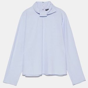 NWT Zara Knotted Bow Collar Blouse